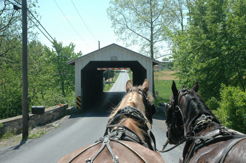 Nearing a Covered Bridge